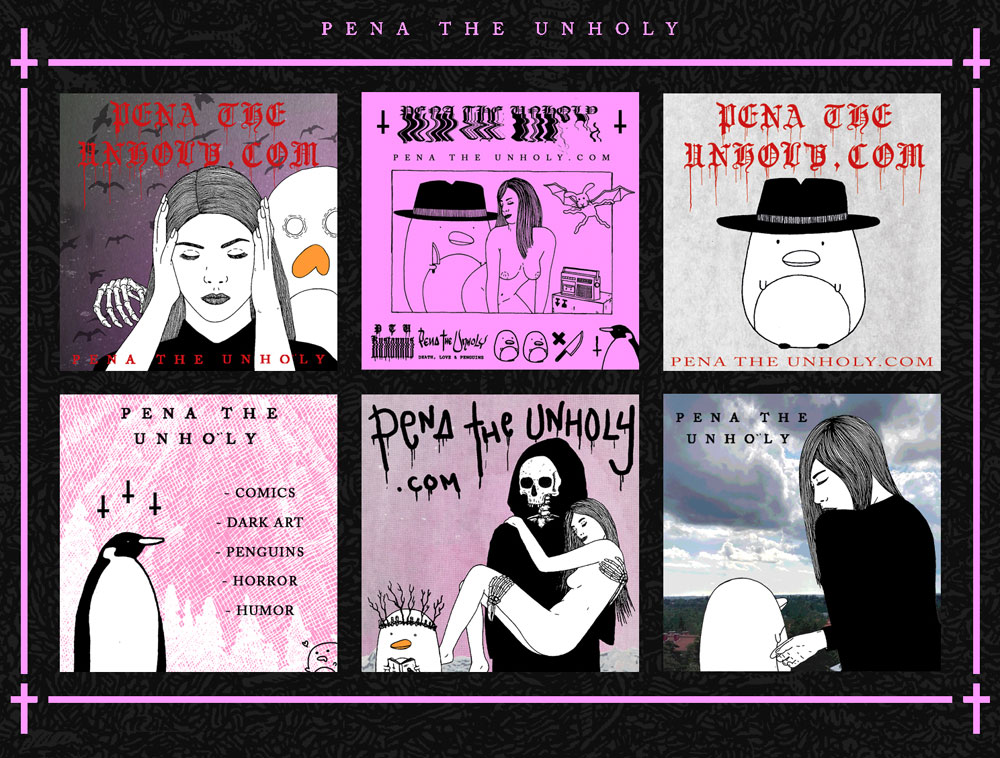 Pena The Unholy Stickers