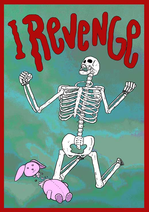 I Revenge Dark Art Skeleton Illustration